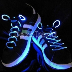 LED-Schnürsenkel blau