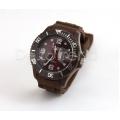 Silikon Armbanduhr Braun