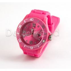 Silikon Armbanduhr Dunkelrosa