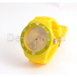 Silikon Armbanduhr Gelb
