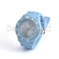 Silikon Armbanduhr Hellblau