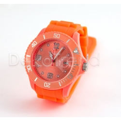 Silikon Armbanduhr Orange