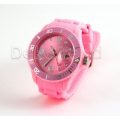 Silikon Armbanduhr Rosa