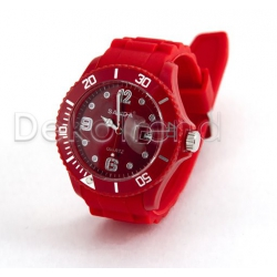 Silikon Armbanduhr Rot