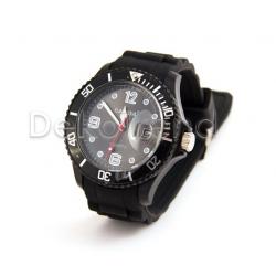 Silikon Armbanduhr Schwarz