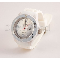 Silikon Armbanduhr Weiss