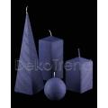 Bemalte Kerzen Blau