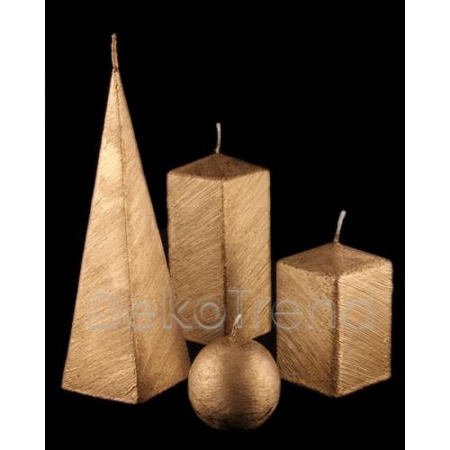 Bemalte Kerzen Golden