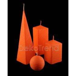Bemalte Kerzen Orange