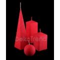 Bemalte Kerzen Rot