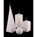 Bemalte Kerzen Weiss