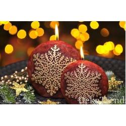 Schneeflocke Dunkelrot Weihnachtskerzen