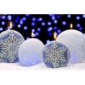 Schneeflocke Dunkelblau Weihnachtskerzen