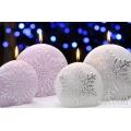 Schneeflocke Violett Weihnachtskerzen