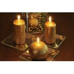 Brokat Kerzen Stumpenkerzen