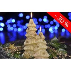 Winterbaum Weihnachtskerzen