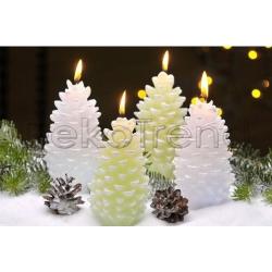 Zapfen Weihnachtskerzen