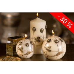 Goldene Rosen Deko Kerzen
