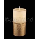 Goldene Schnur Deko Kerzen