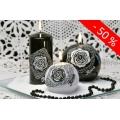 Schwarze Weisse Rose Deko Kerzen