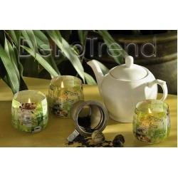 Grüner Tee Kerzen im Glas