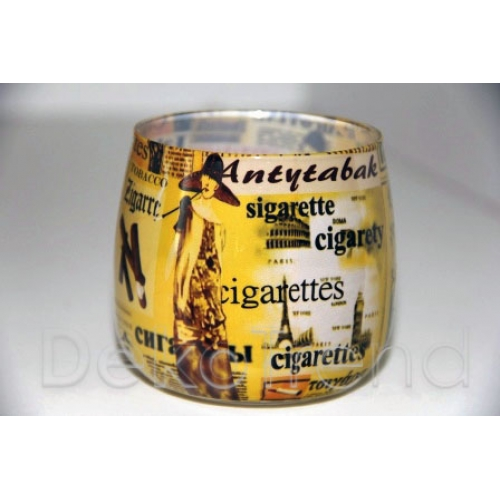 Anti-Tabak Kerze im Glas