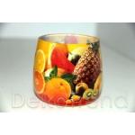 Früchte Kerzen im Glas