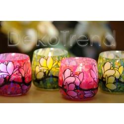Magnolie Kerzen im Glas